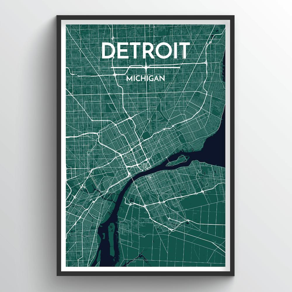 Detroit City Map | Trada Marketplace