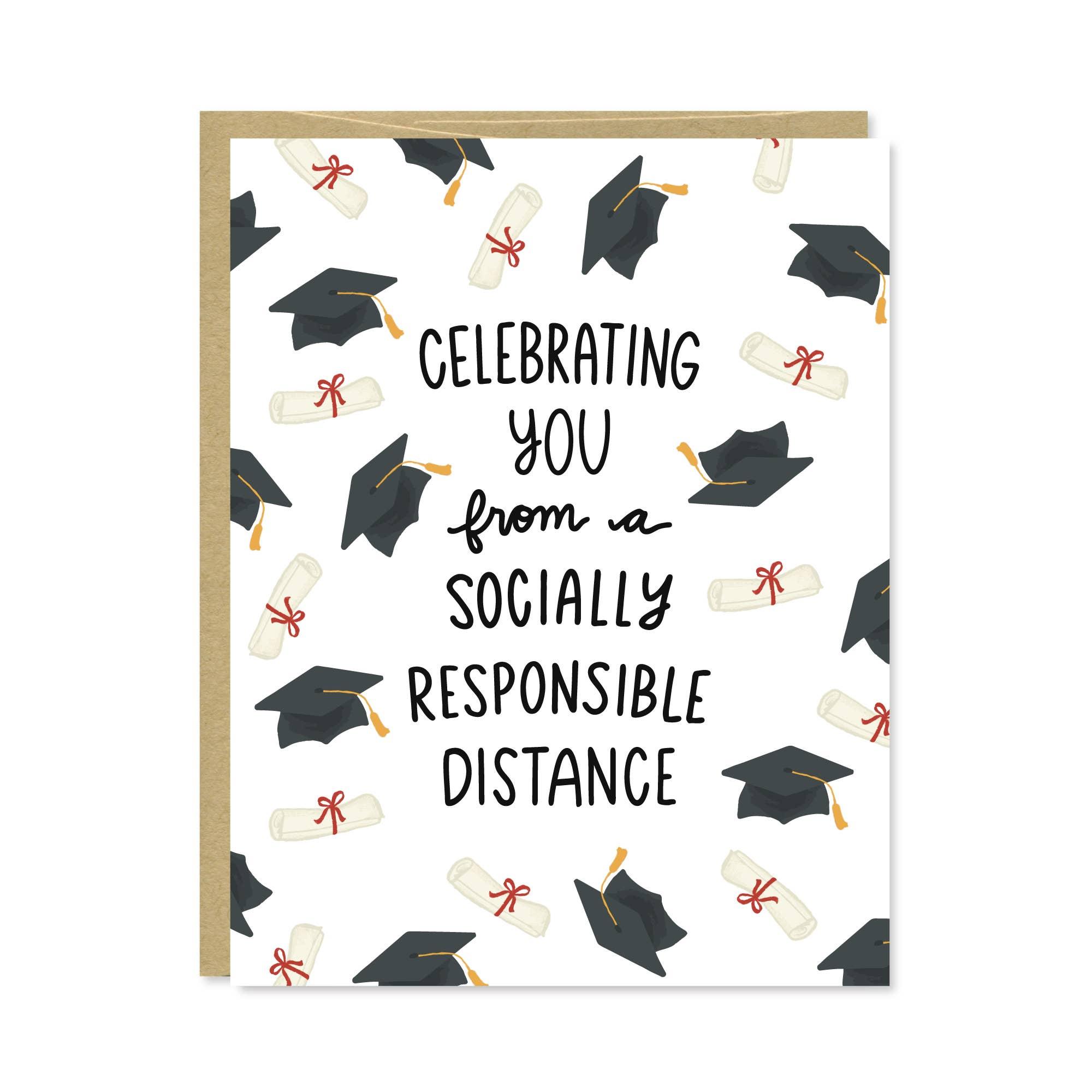 Social Distance Graduation Card | Trada Marketplace