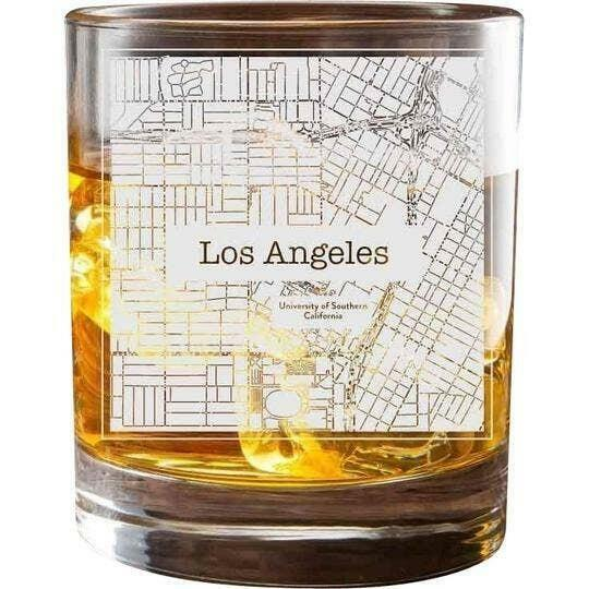 Los Angeles USC College Town Glasses (Set of 2)   Trada Marketplace