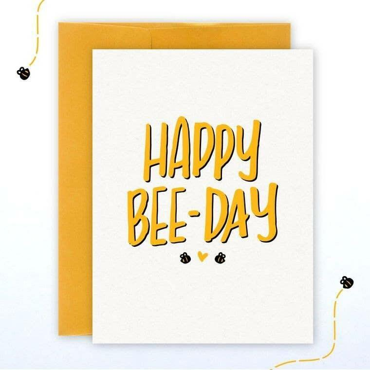Happy Bee-Day A2 Greeting Card with Envelope | Trada Marketplace