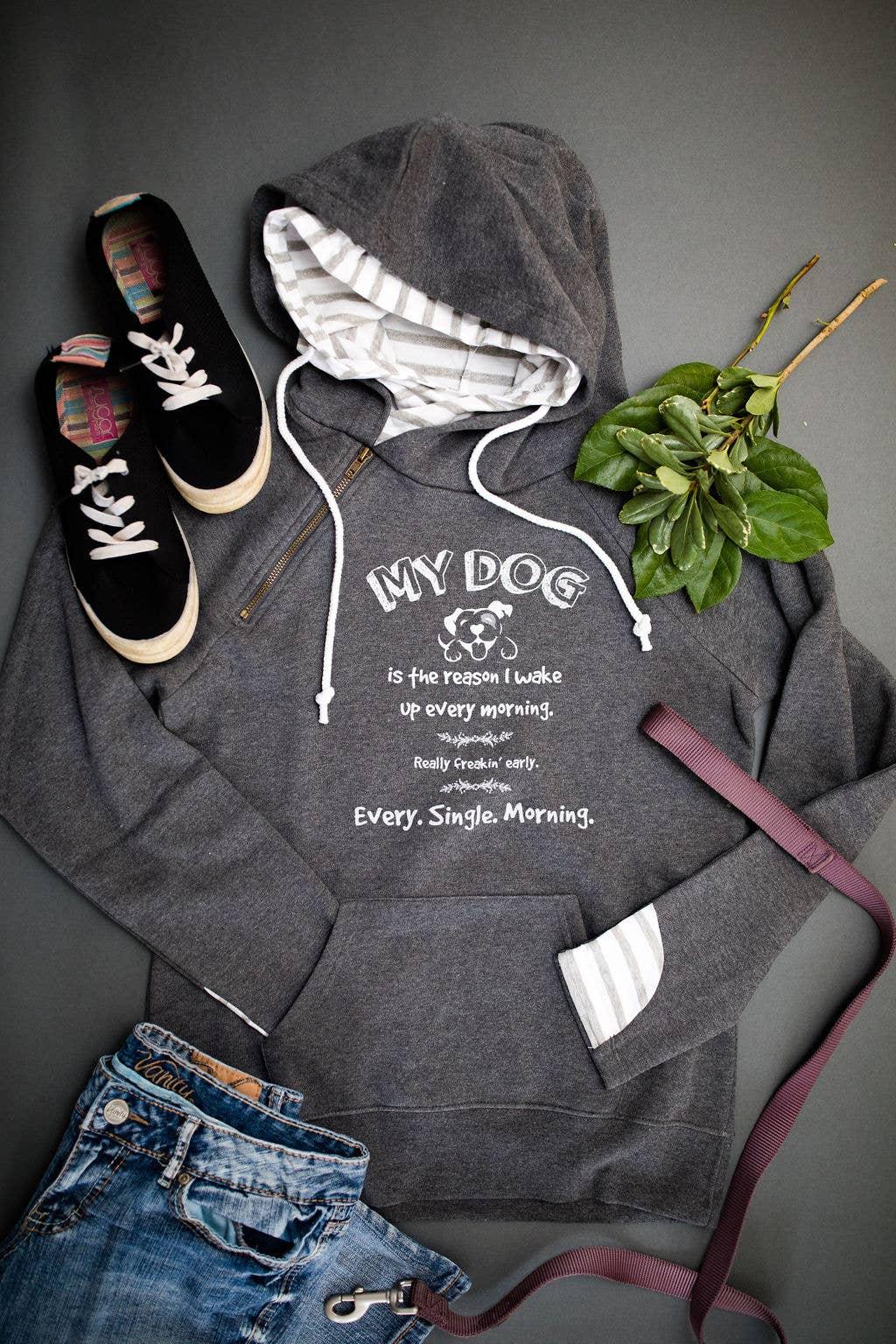Ladies Stripe Double Hood Pullover | Trada Marketplace
