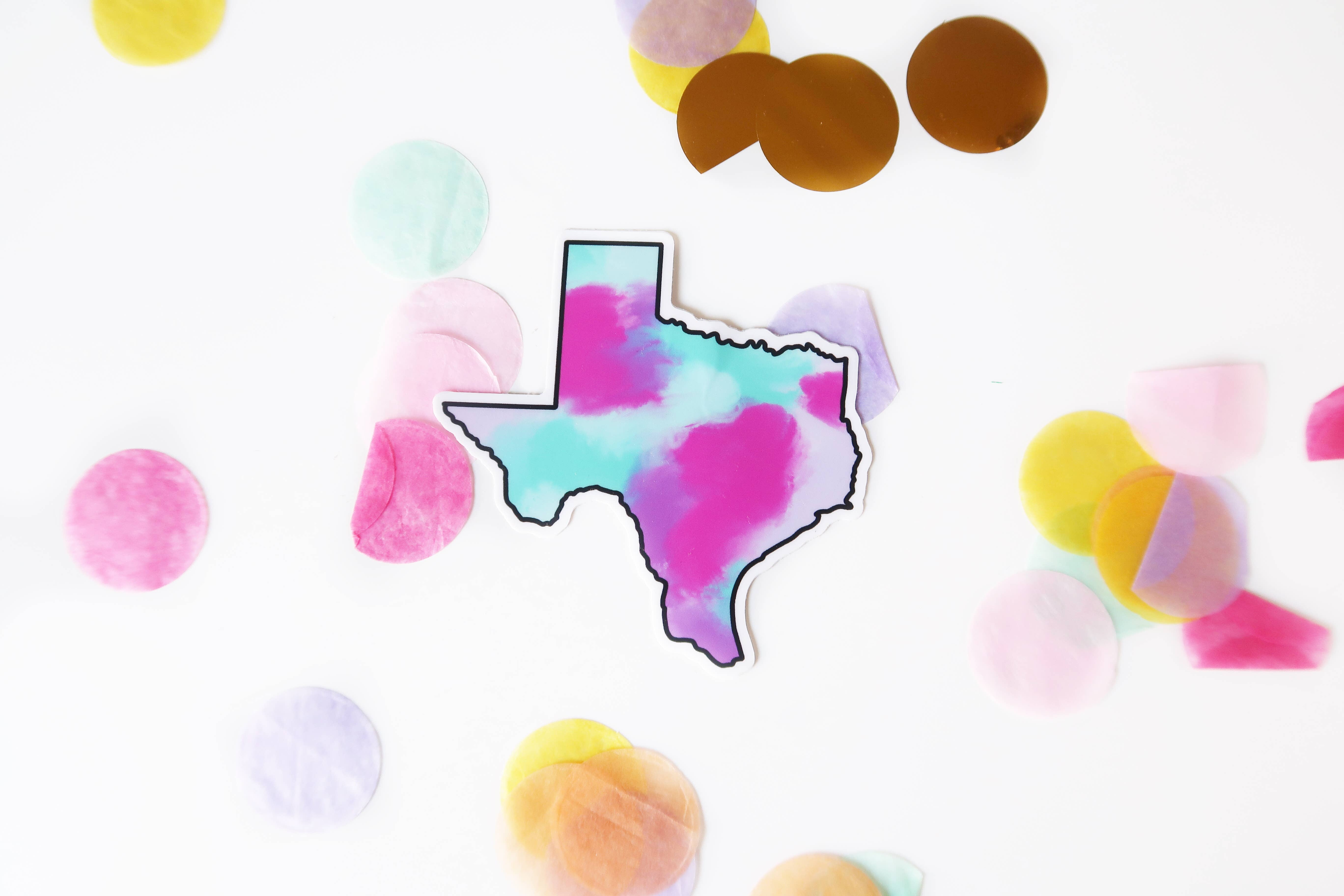 Texas Colorful Sticker   Trada Marketplace
