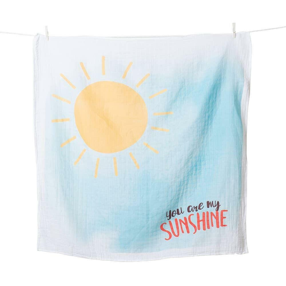 Single Cotton Swaddle & Cards - You are my Sunshine   Trada Marketplace