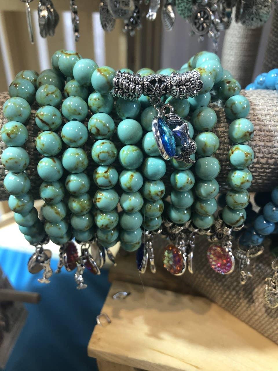 Turquoise mermaid collection bracelets | Trada Marketplace