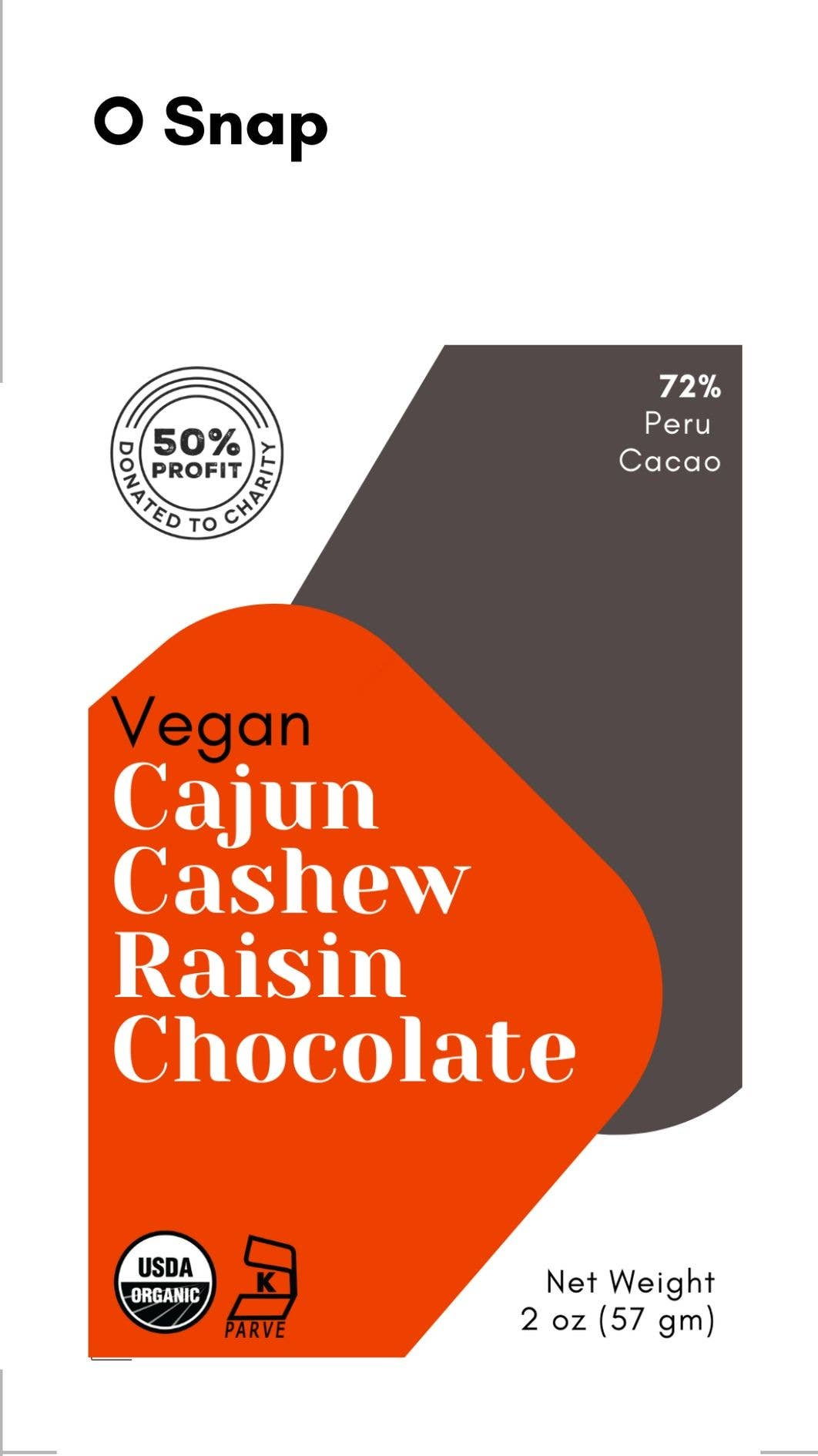 Vegan Organic Cajun Cashew Raisin Chocolate | Trada Marketplace