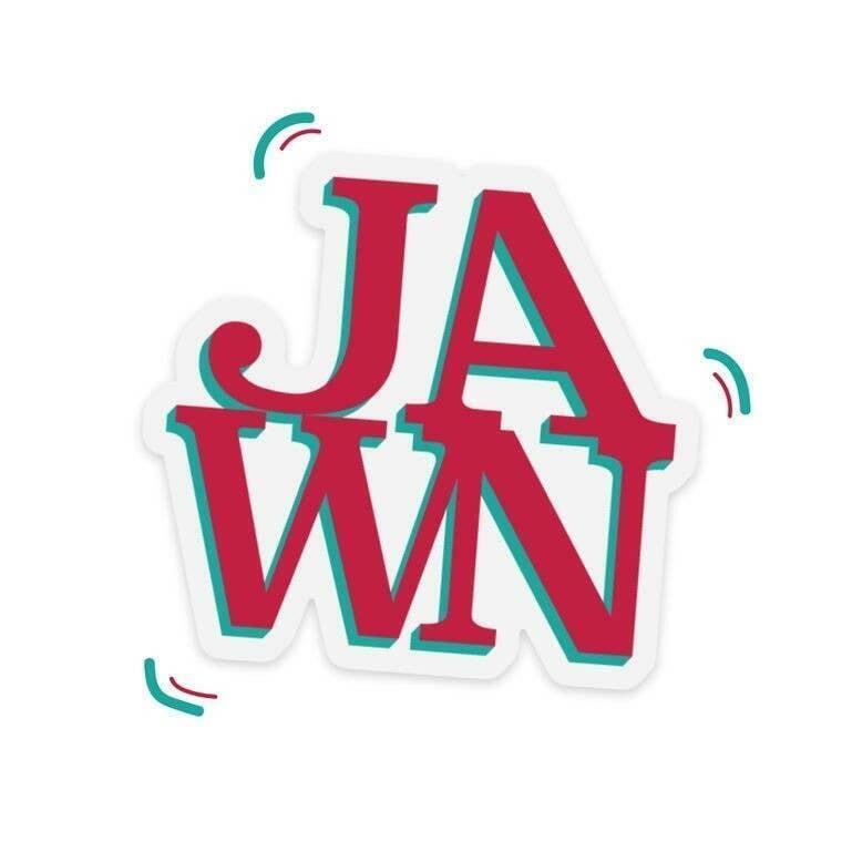 Jawn Philadelphia Die-Cut Clear Vinyl Sticker | Trada Marketplace