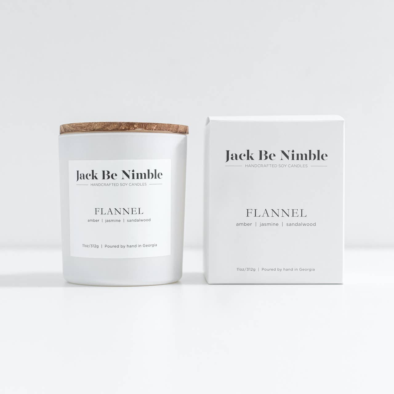 11oz Flannel Soy Candle | Trada Marketplace