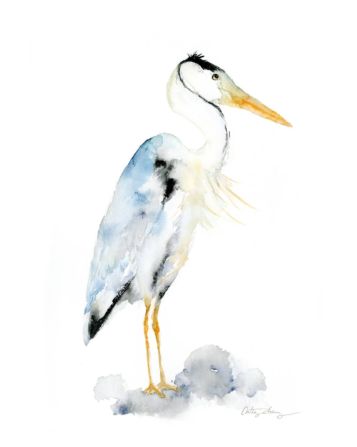 Blue Heron Art Print | Trada Marketplace