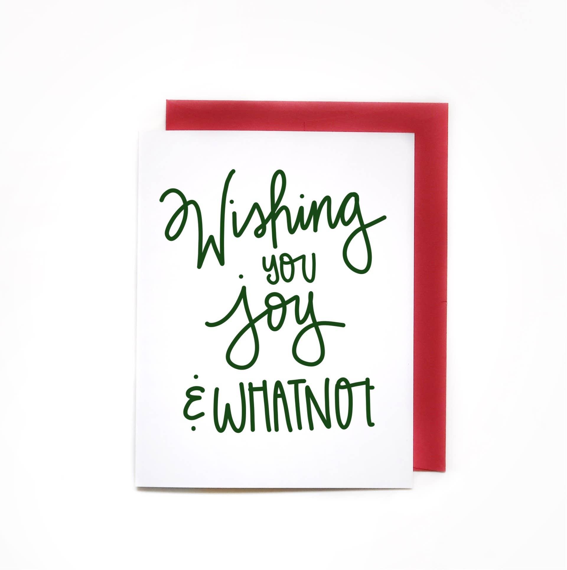 Wishing You Joy and Whatnot, Sarcastic Holiday Greeting Card | Trada Marketplace