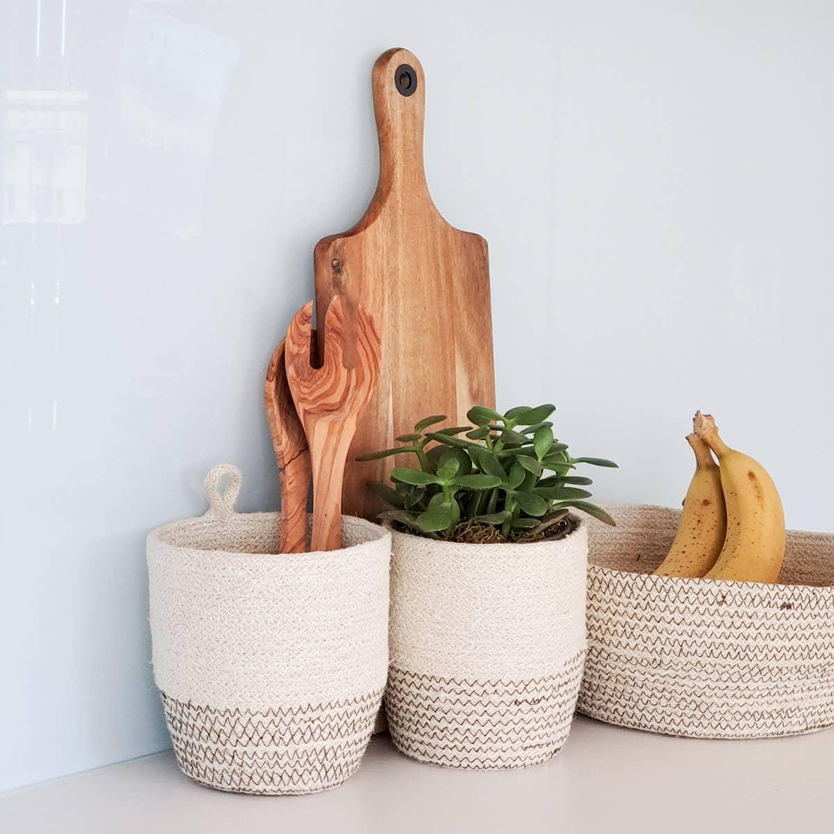 Amari Loop Bin - Brown (Set of 2) | Trada Marketplace