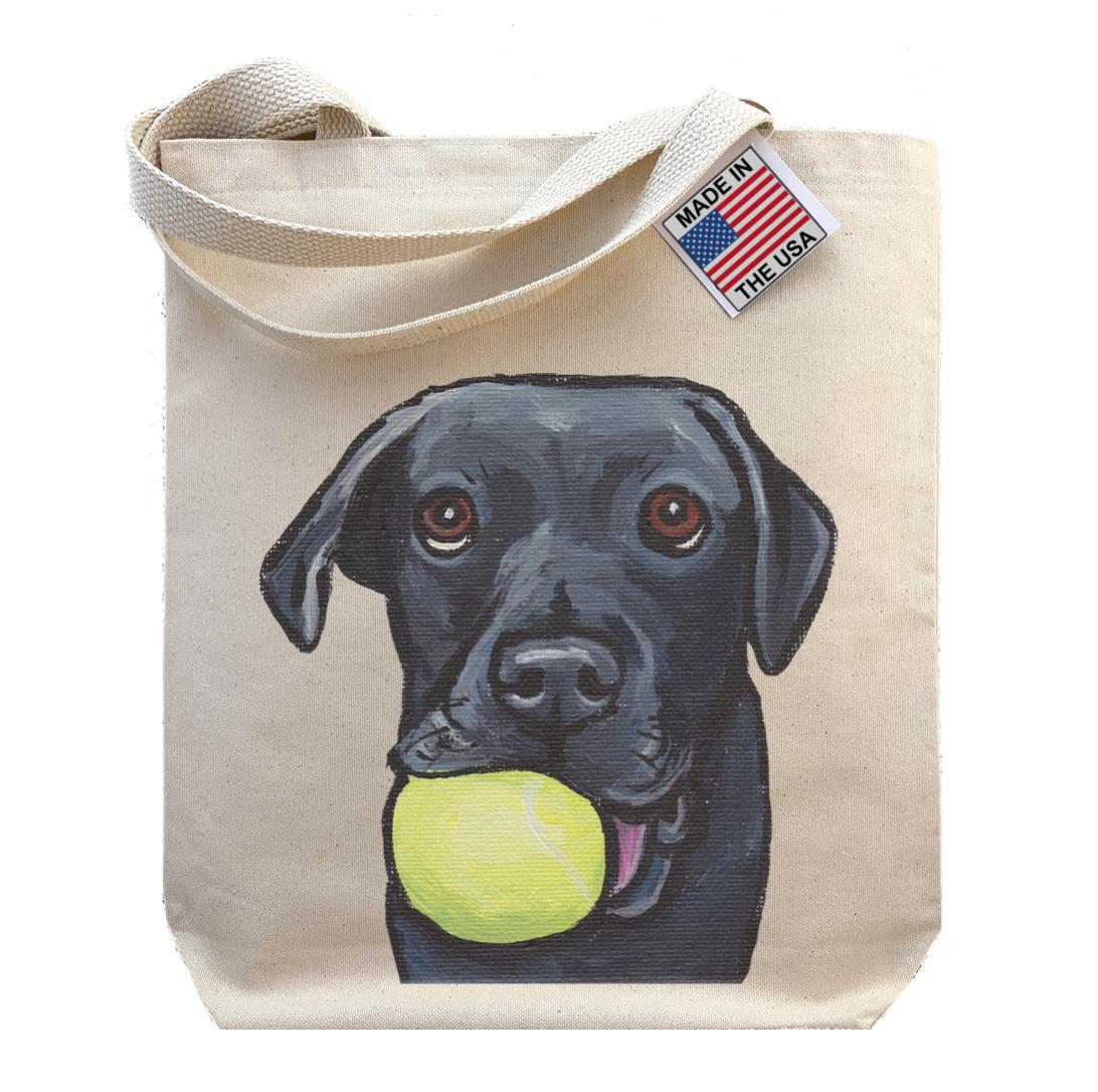 Gusseted Tote Bag, Black Lab Tote, Dog Shopping Bag   Trada Marketplace