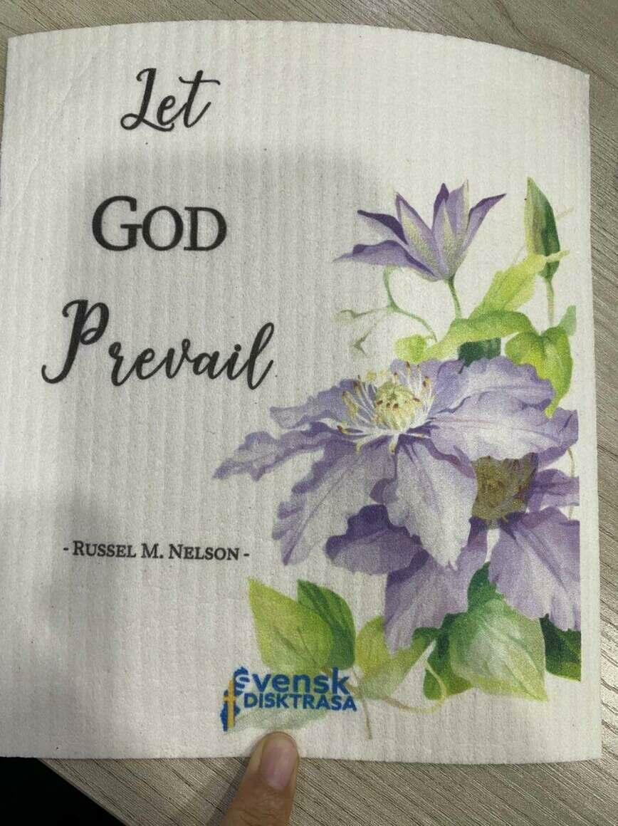 """Let God Prevail"" Swedish Dishcloth   Trada Marketplace"