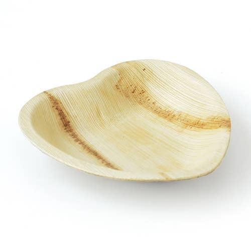 "Heart Palm Leaf Plates 6"" inch - Set of 25 plate   Trada Marketplace"