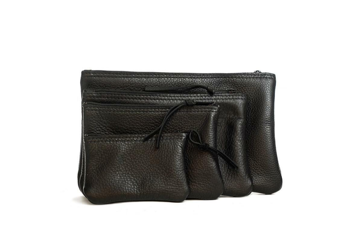 Leather Zipper bags in a set of 4 | Trada Marketplace