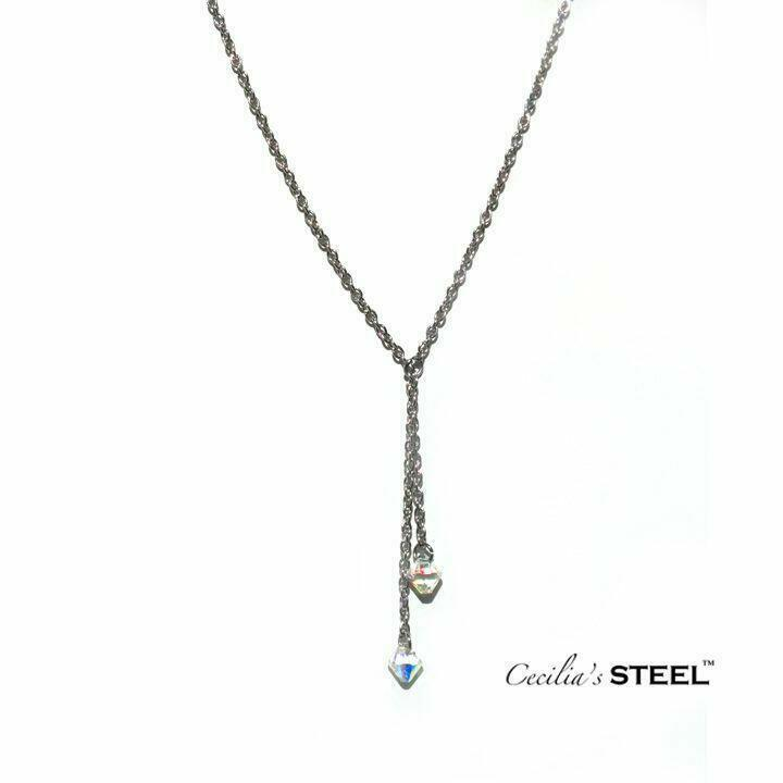 Crystal Whispers Lariat Y Necklace   Trada Marketplace