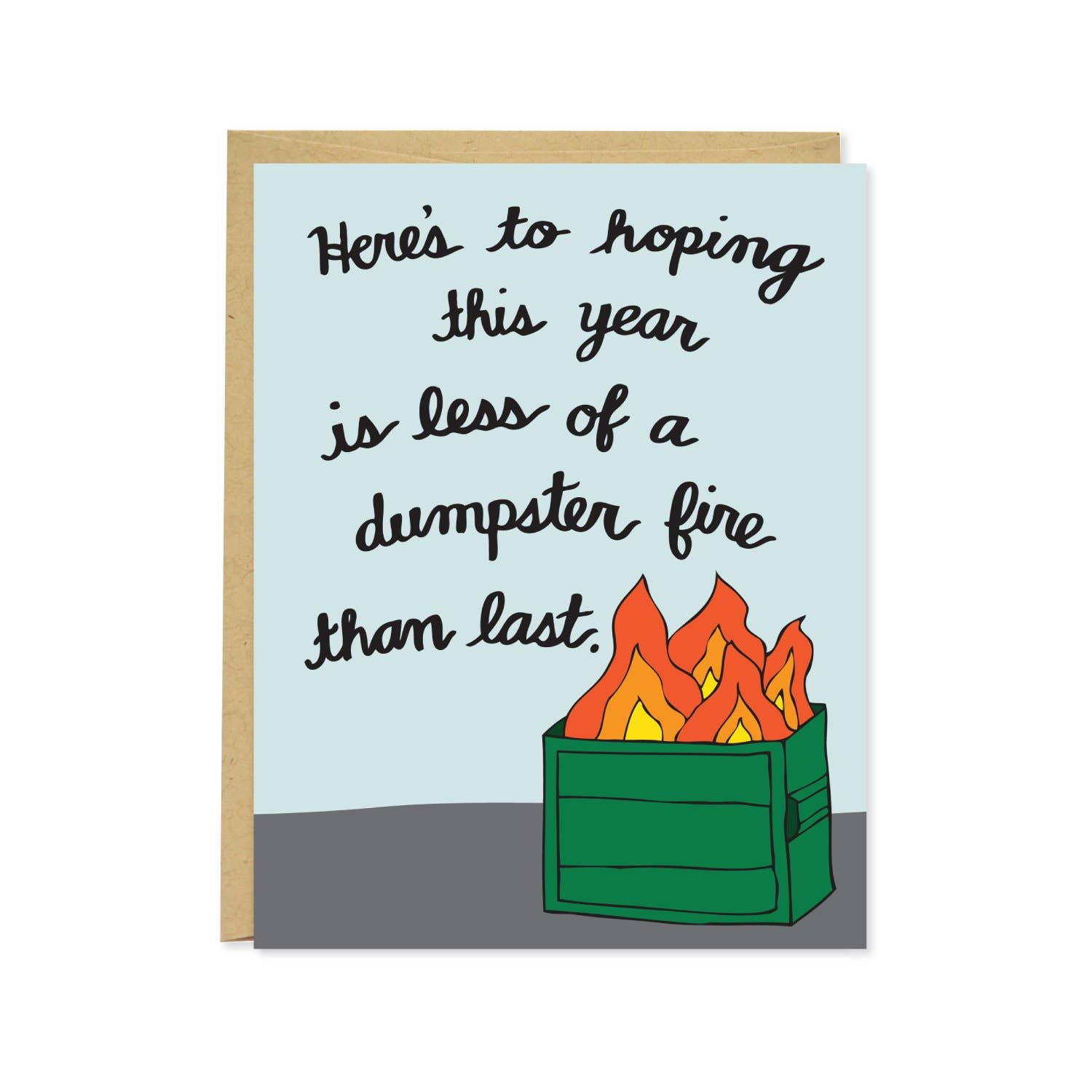 Dumpster Fire New Years Card | Trada Marketplace