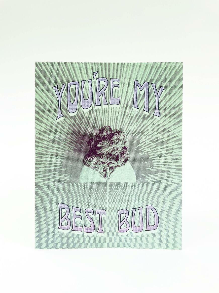 You're My Best Bud   Greeting Card   Trada Marketplace