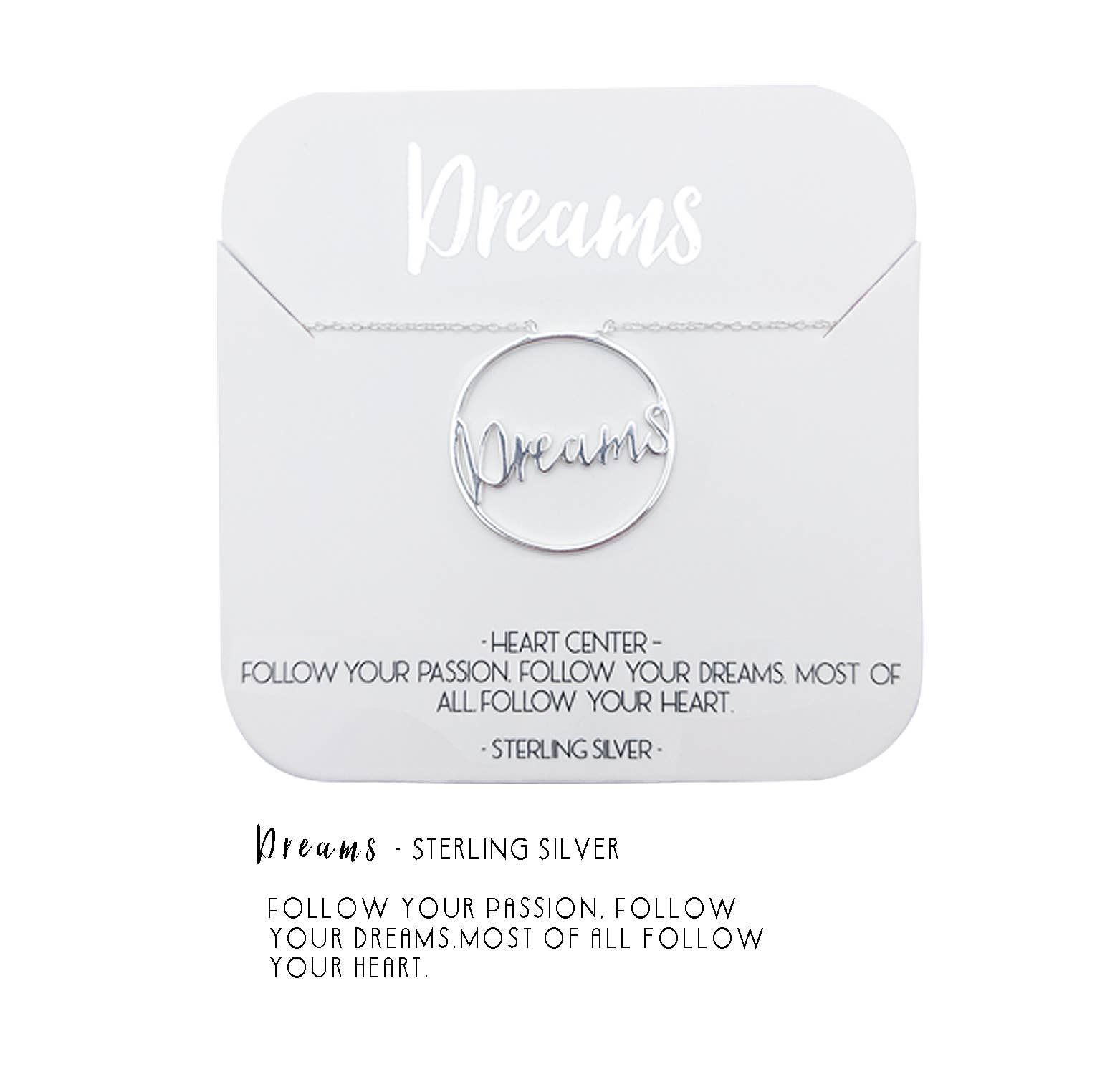 Dreams Heart Center Necklace | Trada Marketplace