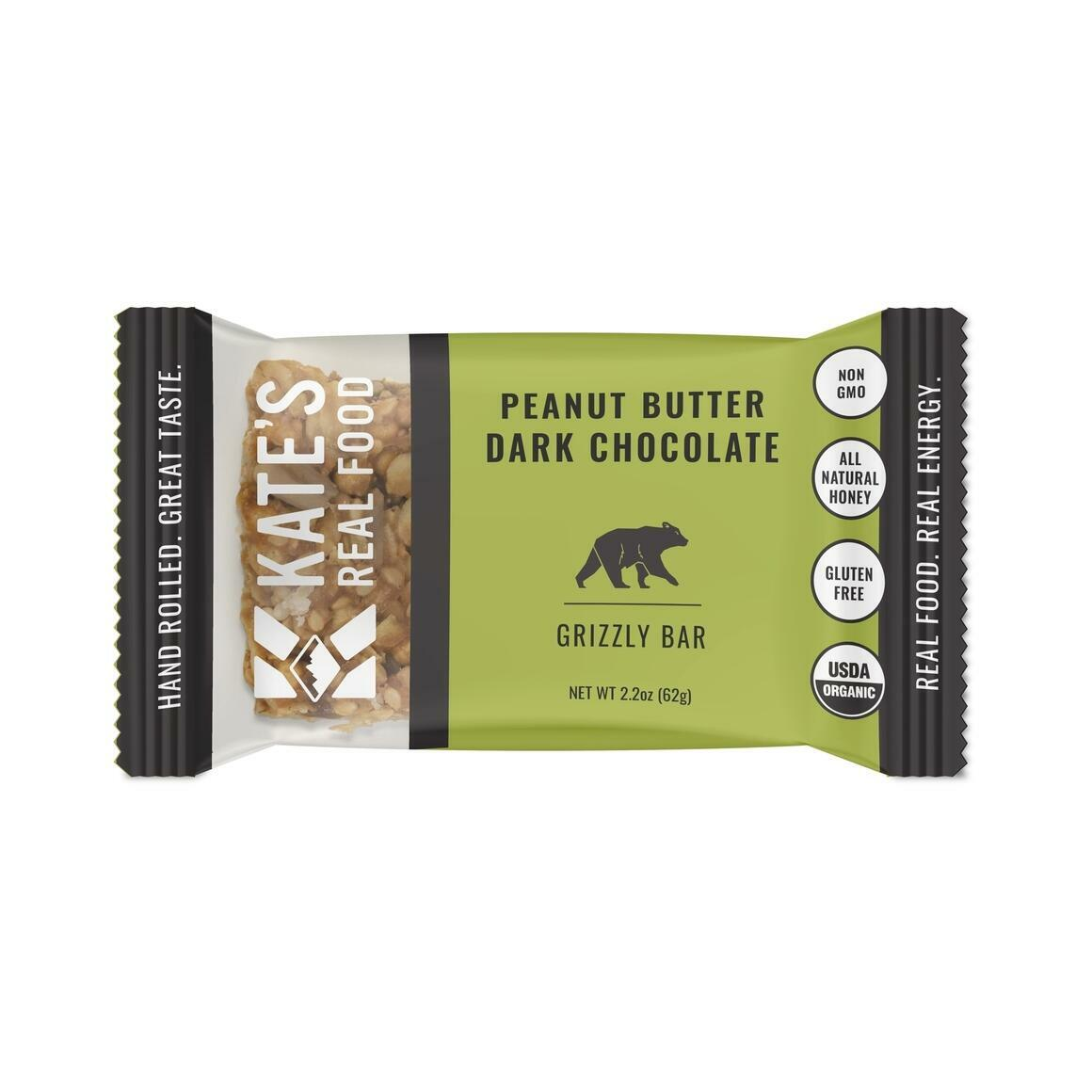 """Kate's Real Food """"Grizzly"""" Peanut Butter Dark Chocolate Bar 