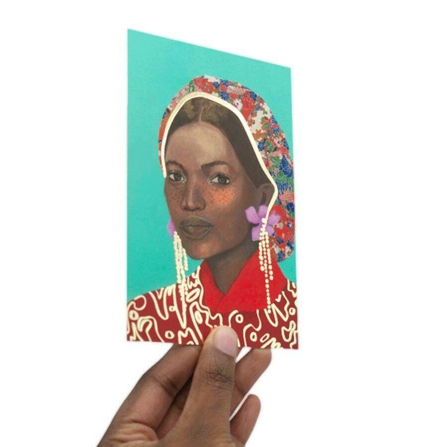 Gold Foil Art Card: Portrait 9 | Trada Marketplace