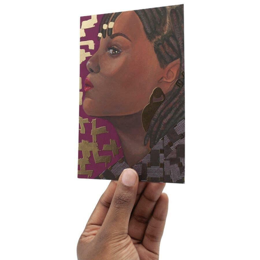 Gold Foil Art Card: Portrait 7 | Trada Marketplace