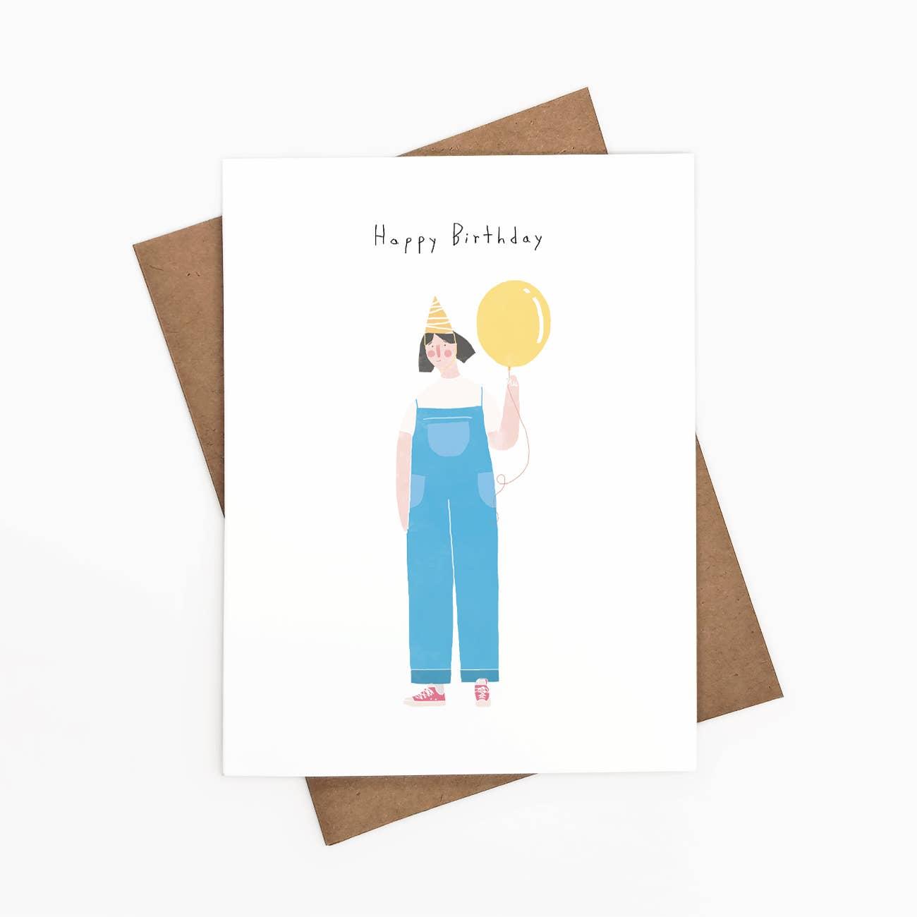 Happy Birthday Greeting Card - Overalls   Trada Marketplace