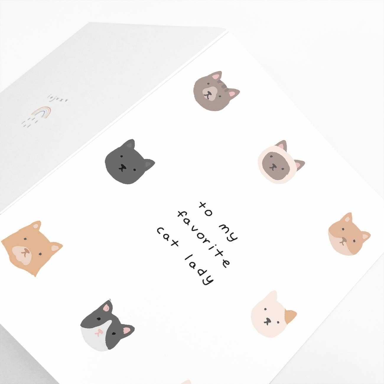 To My Favorite Cat Lady Greeting Card   Trada Marketplace