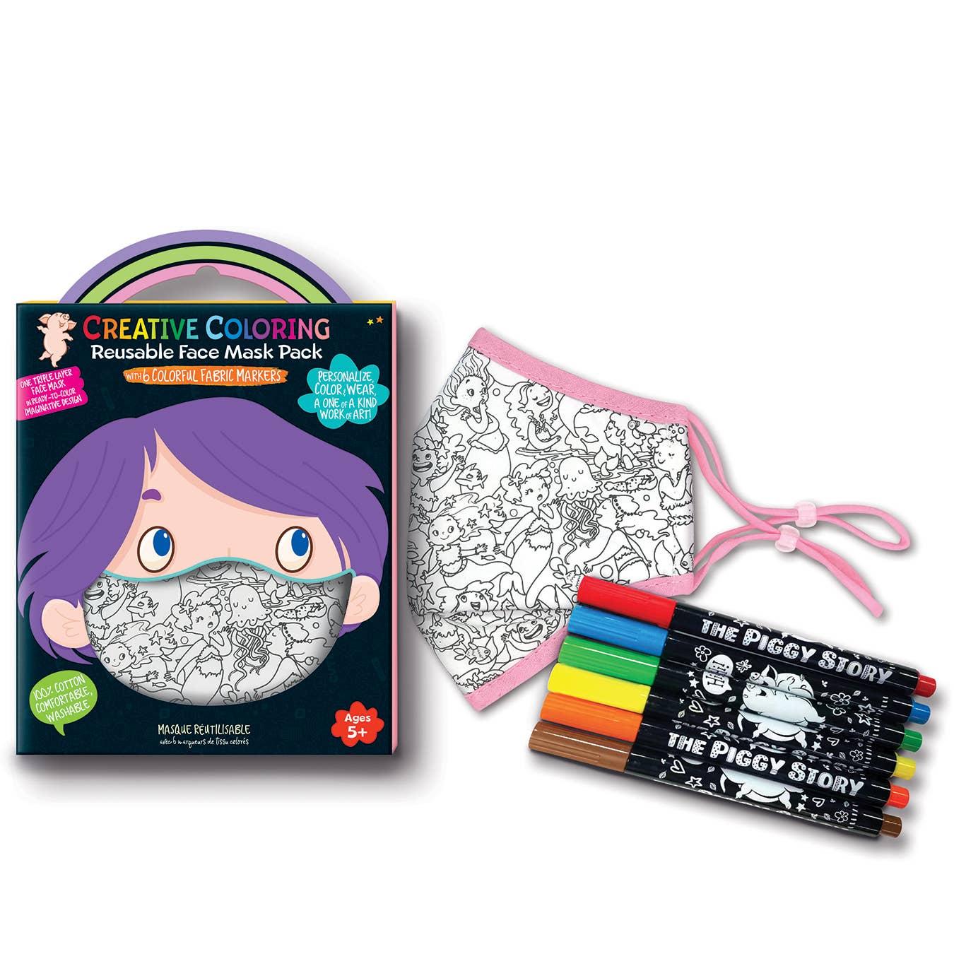 Creative Coloring Face Mask Pack- Magical Mermaids   Trada Marketplace