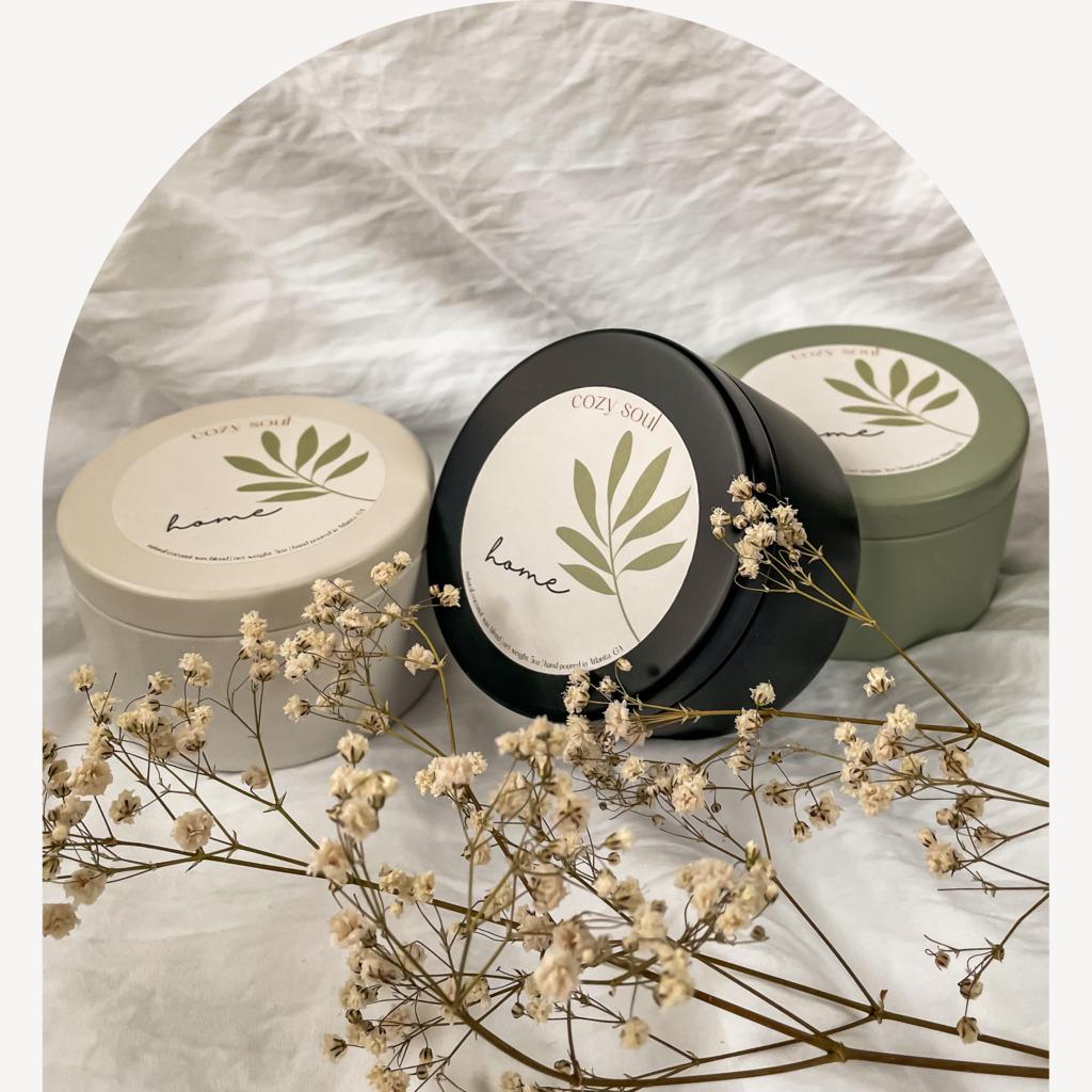 Home 5oz | Tin Jar | Wooden Wick | Non-toxic  | Trada Marketplace