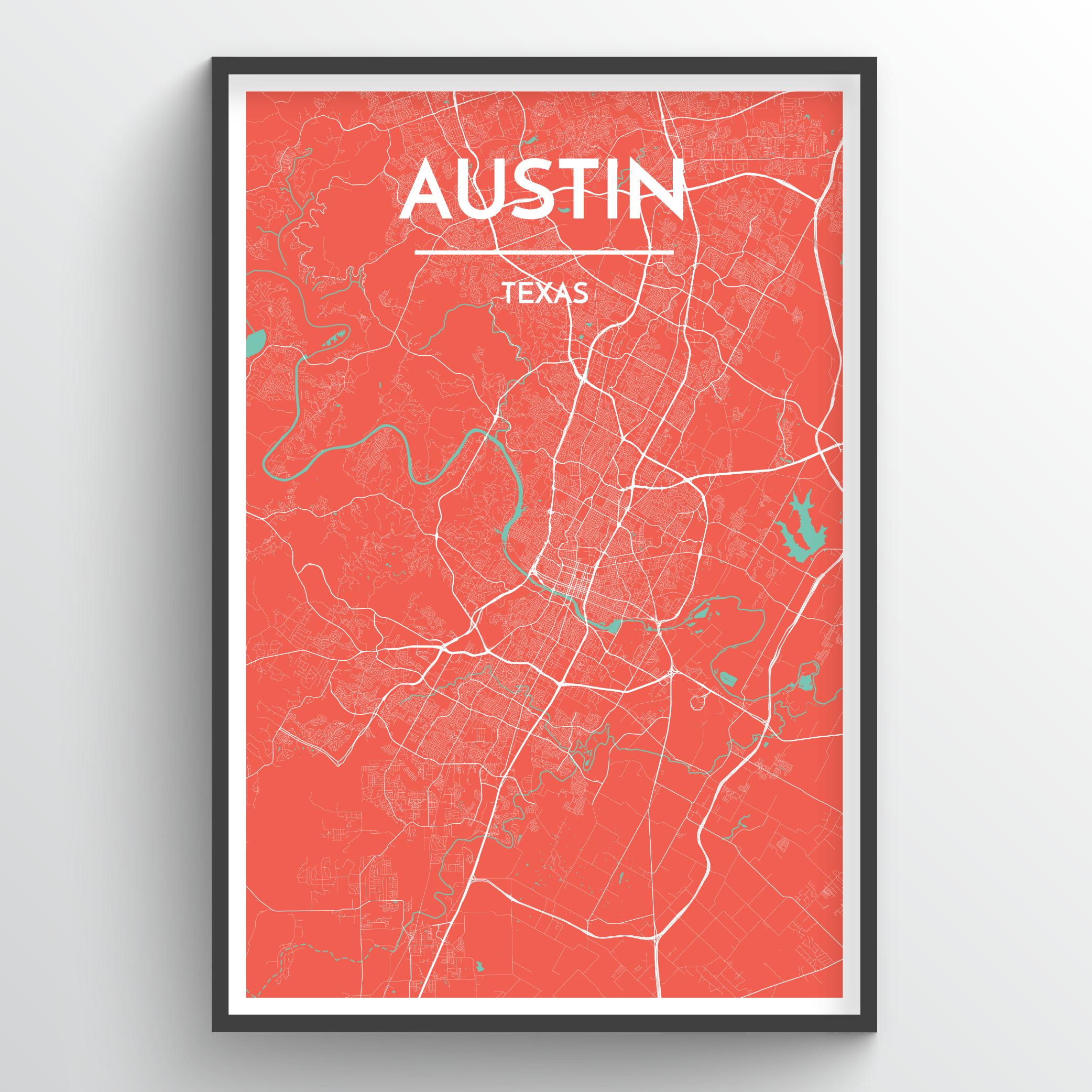 Austin City Map | Trada Marketplace