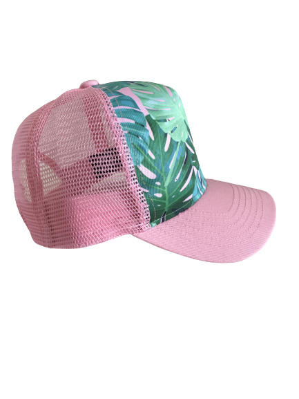 Pink Monstera Trucker Hat | Trada Marketplace
