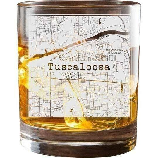 Tuscaloosa College Town Glasses (Set of 2)   Trada Marketplace