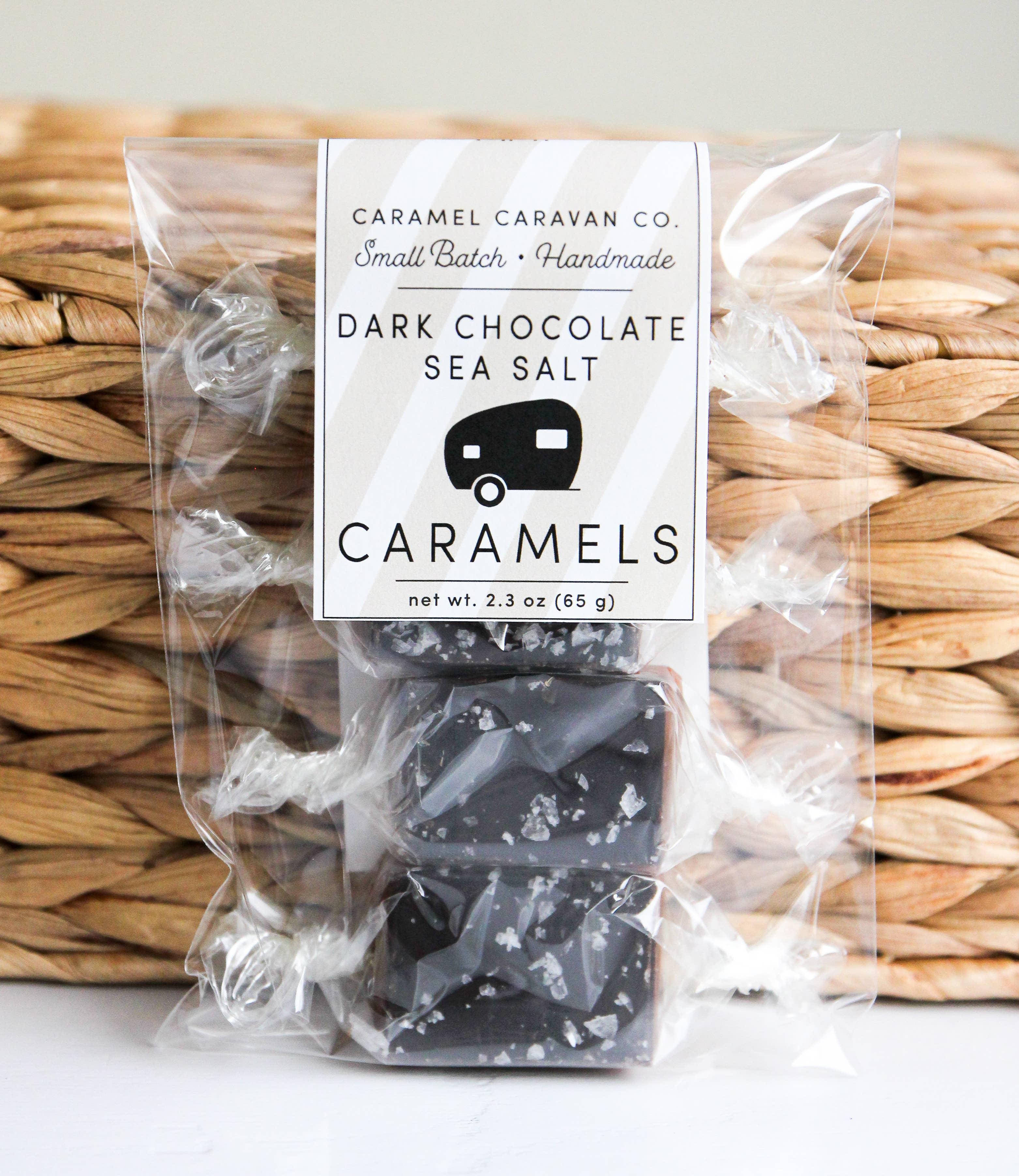 Dark Chocolate Sea Salt Caramels - 4 Piece Bag | Trada Marketplace