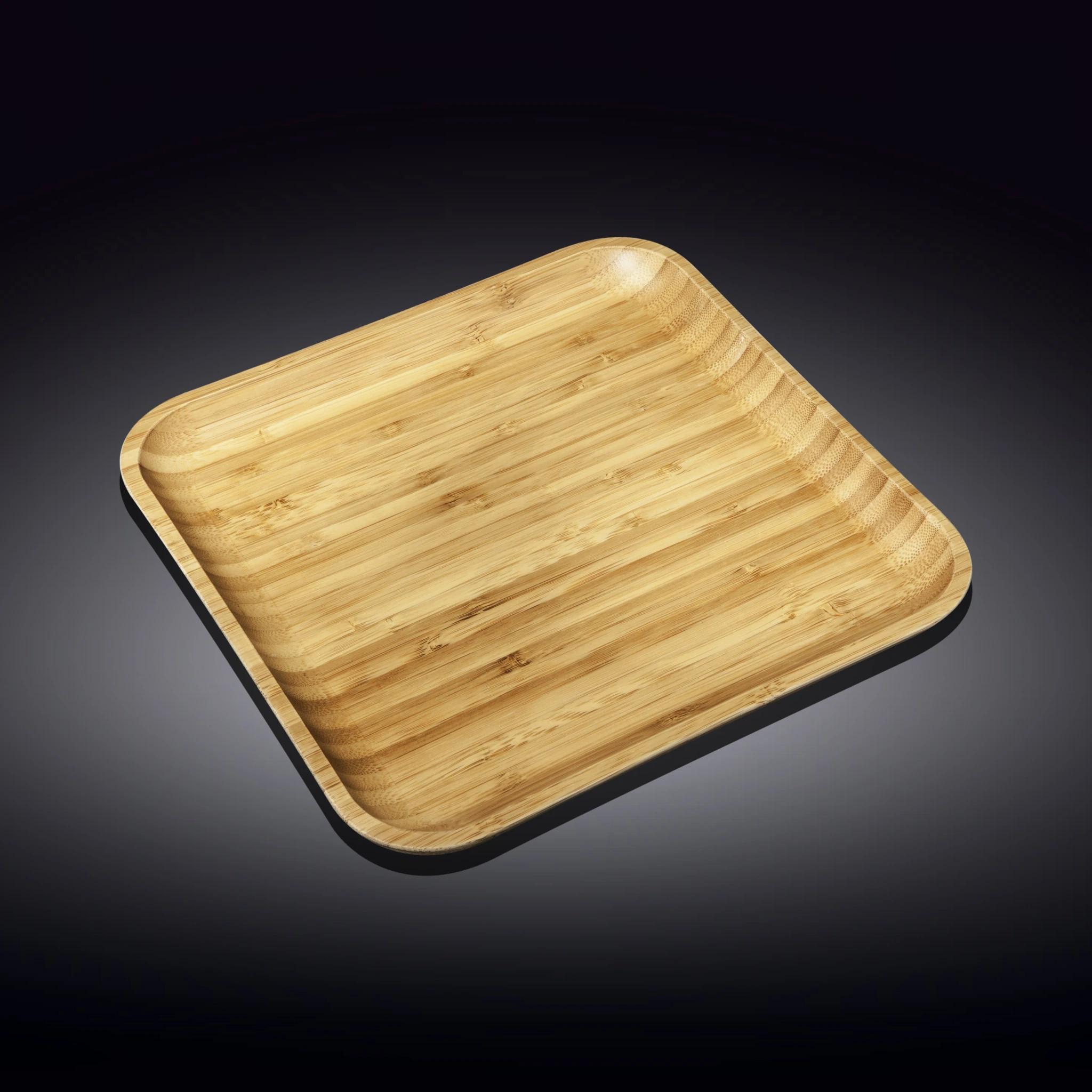 "13"" x 13"" Bamboo Platter   Trada Marketplace"