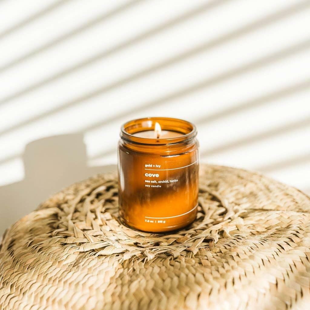 cove 7.5 oz. soy candle - standard | Trada Marketplace