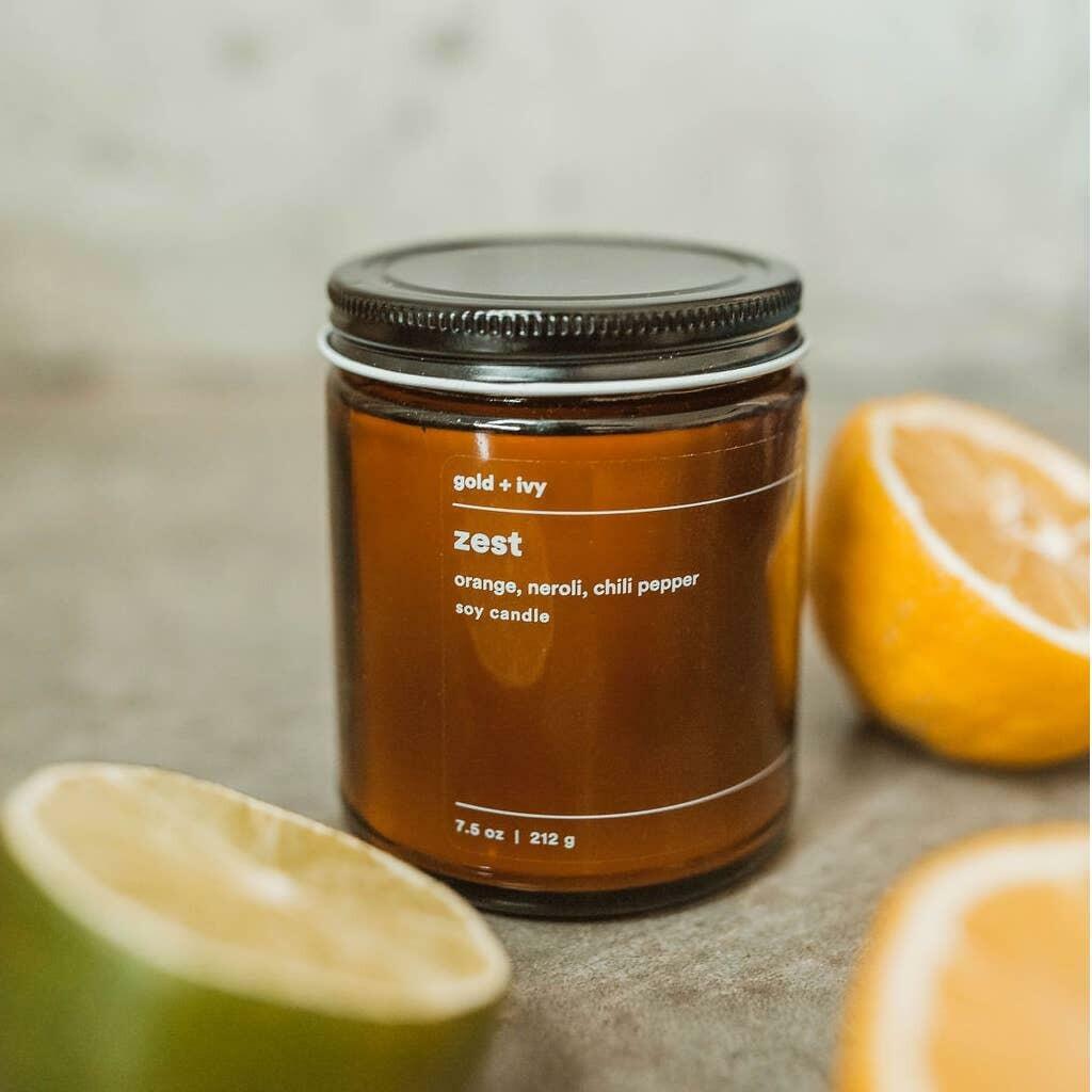 zest 7.5 oz. soy candle - standard | Trada Marketplace