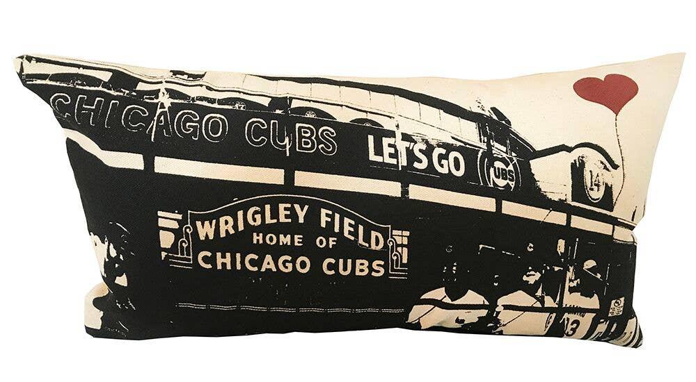 "Chicago Wrigley Field 10""x18"" Rectangular Pillow | Trada Marketplace"