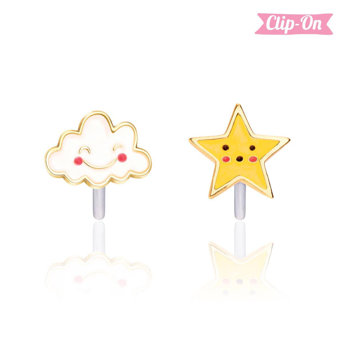 """""""The Perfect Pair""""- Head in the Clouds Clip-On Earrings   Trada Marketplace"""