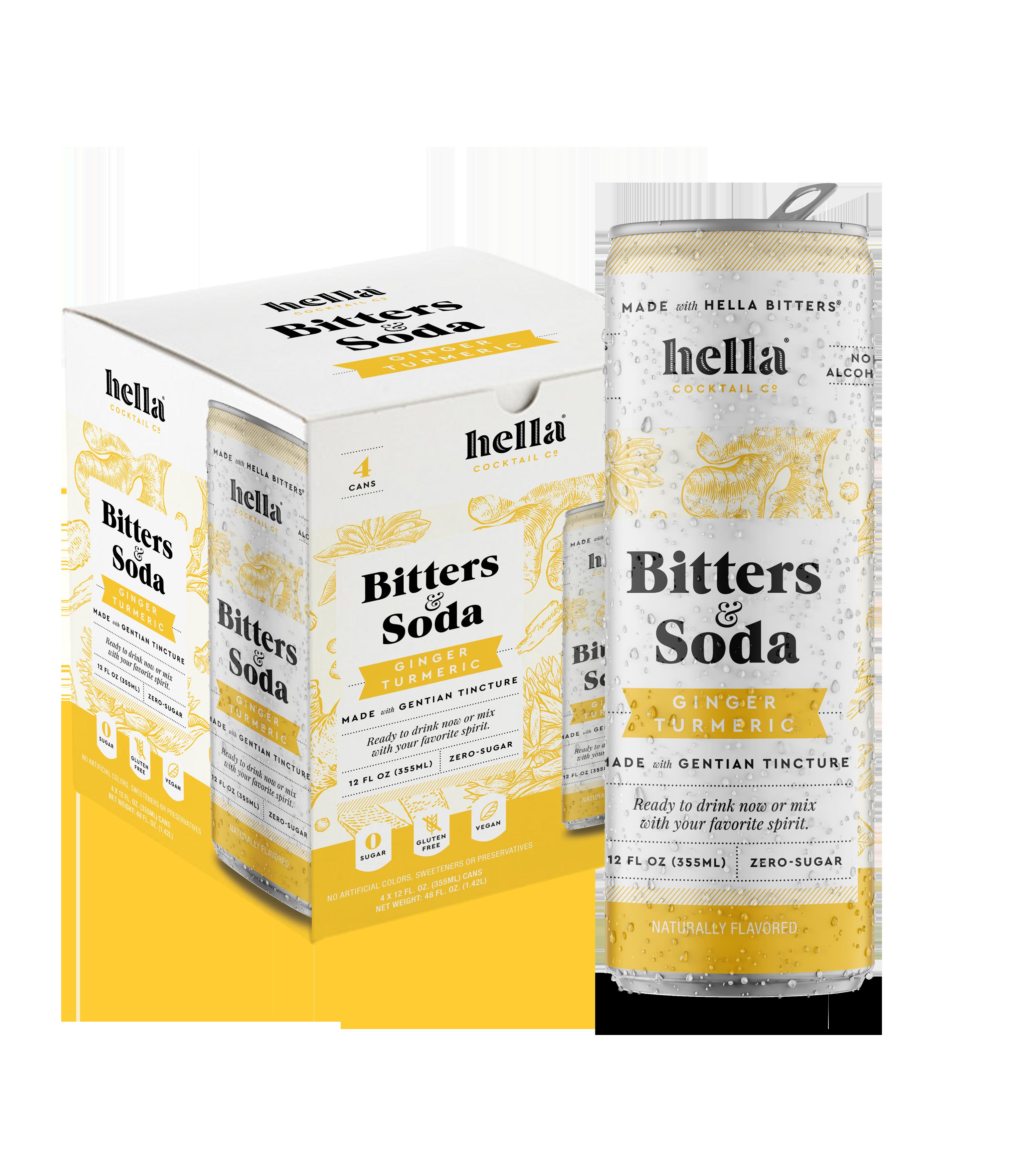 Bitters & Soda Ginger Tumeric 4-pack | Trada Marketplace