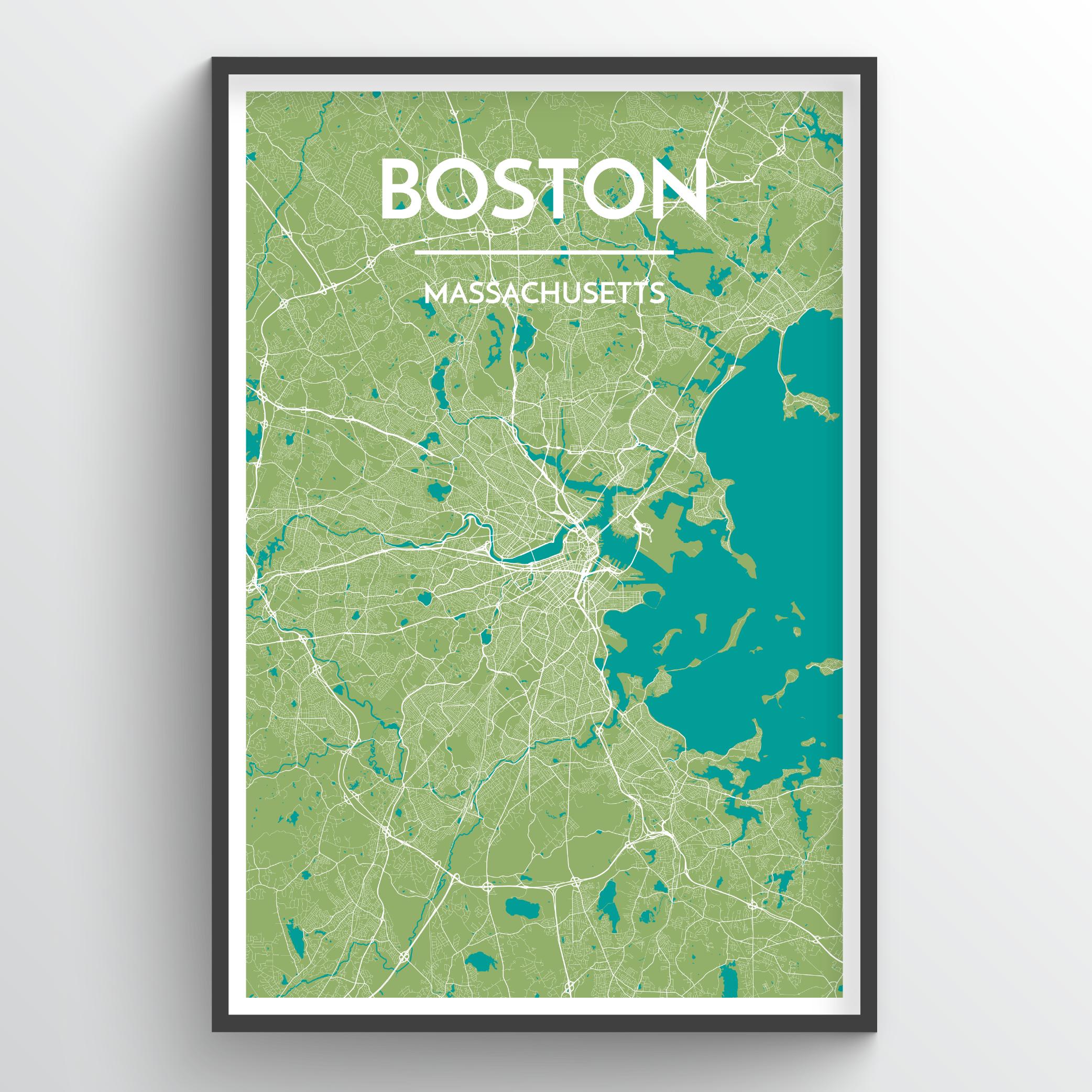 Boston City Map | Trada Marketplace