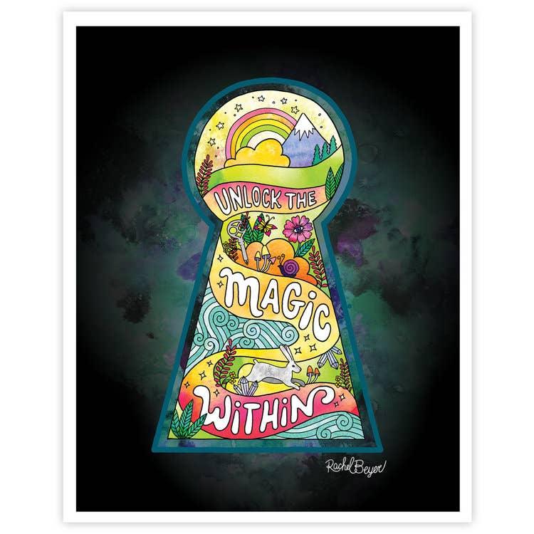 Unlock the Magic Within Art Print | Trada Marketplace