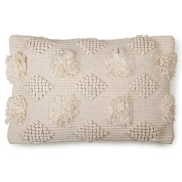 Diagonal Chindi  Cushion - 16 x 24 Inch   Trada Marketplace