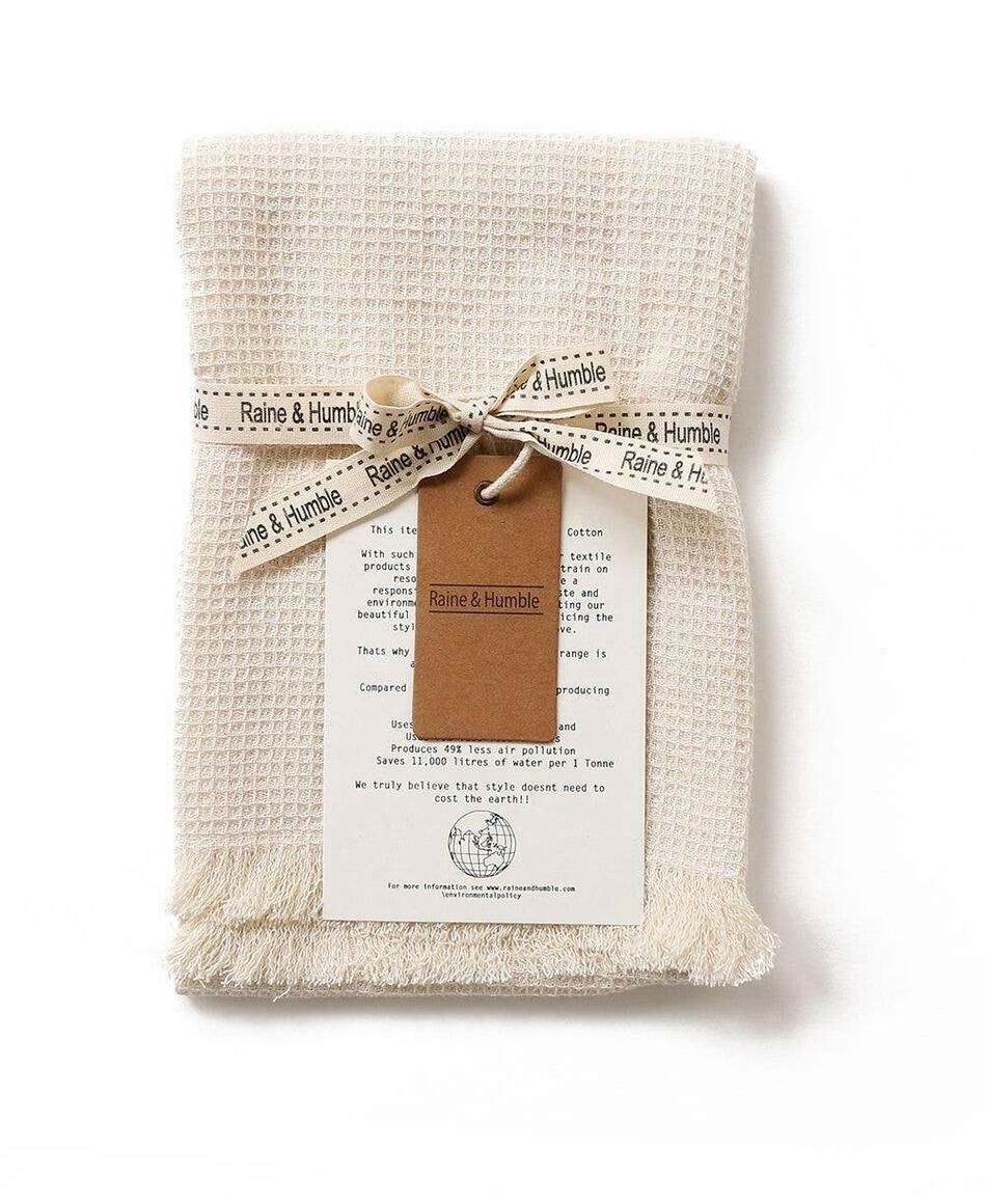 Tea Towel Natural with Fringe | Trada Marketplace