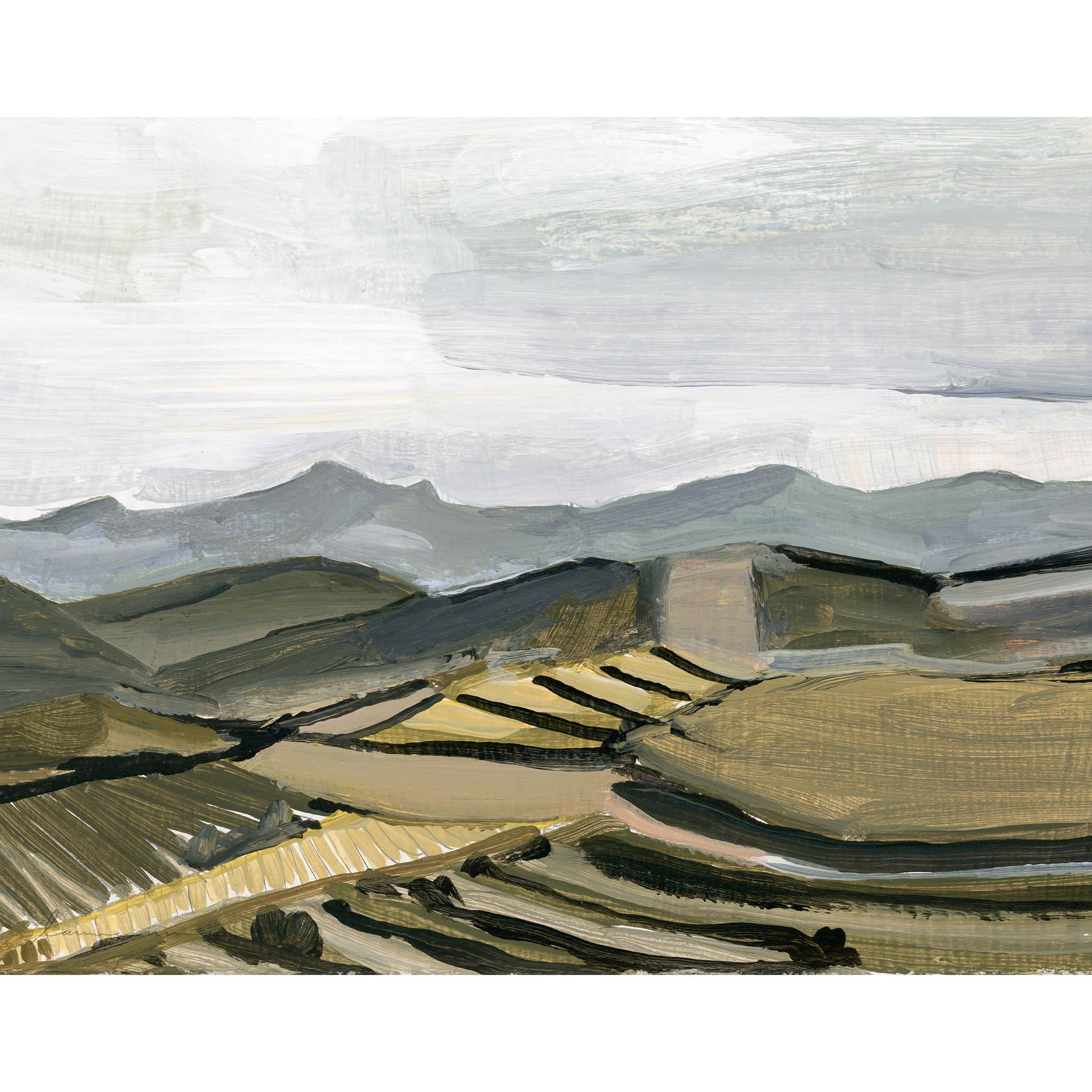 Blue Mountains Horizontal Canvas Print   Trada Marketplace
