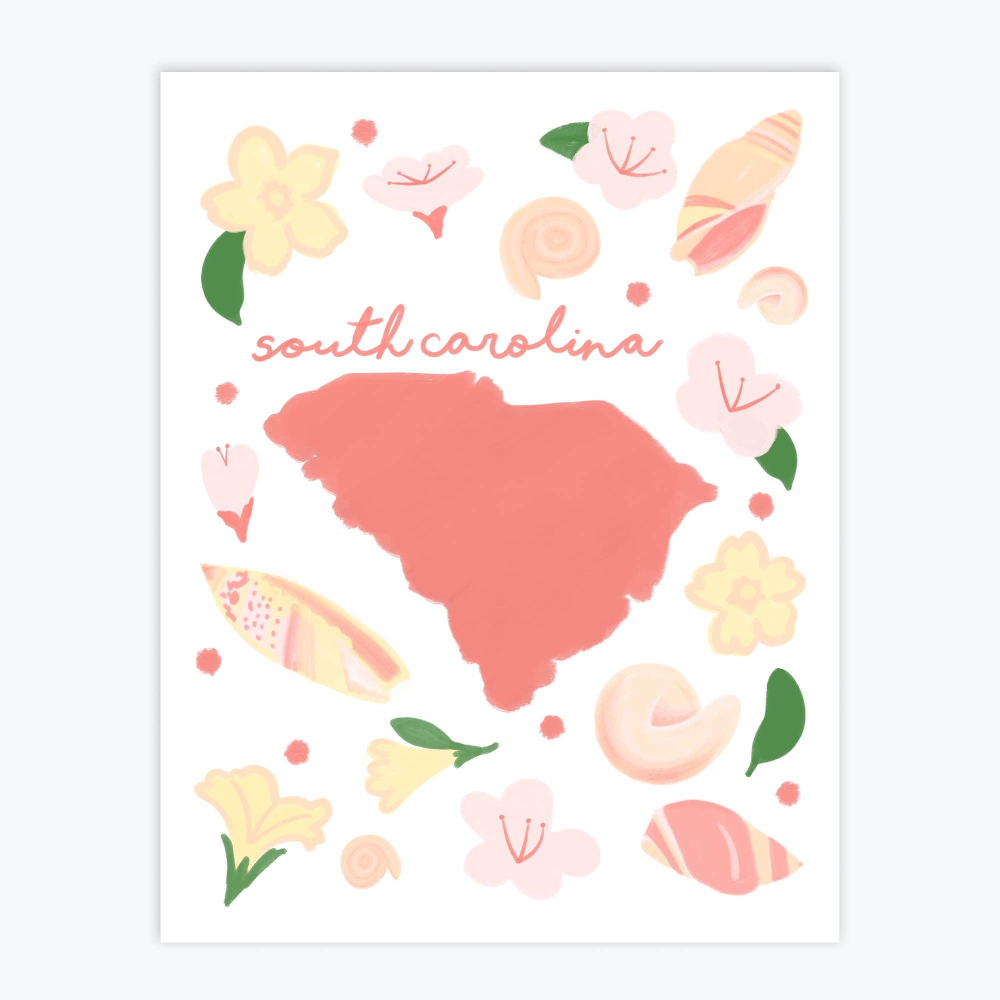 South Carolina Fresh State - Art Print   Trada Marketplace