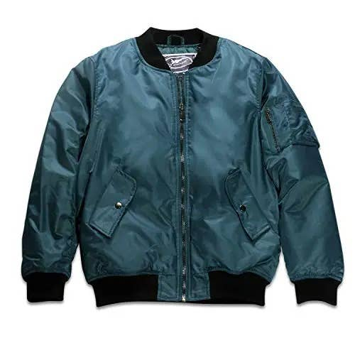 Adult MA-1 Flight Jacket Blue Blank (with no patches)   Trada Marketplace