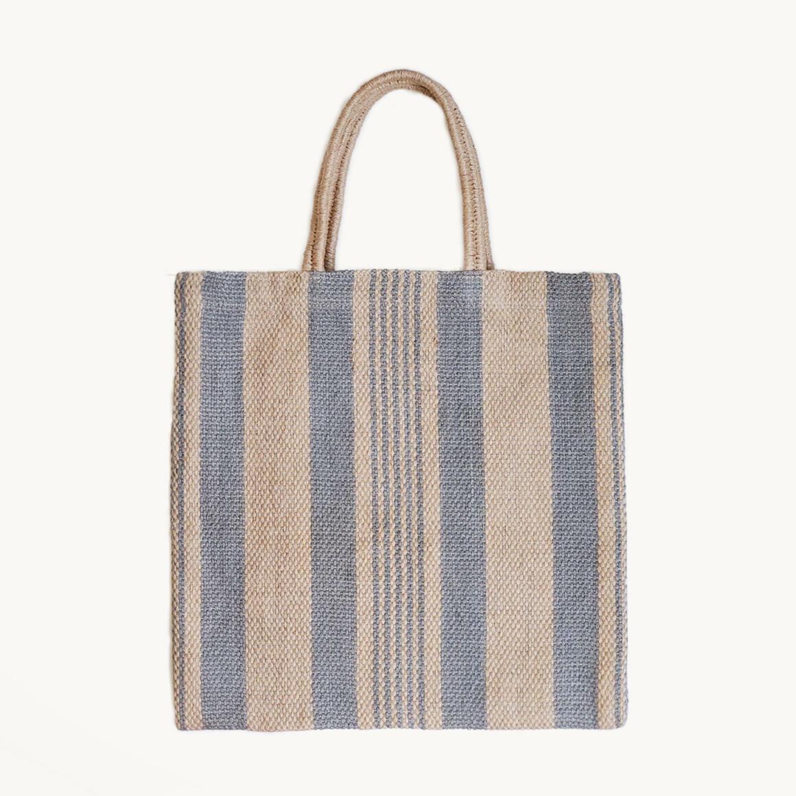 Dora Jute Tote Bag - Pale Gray | Trada Marketplace