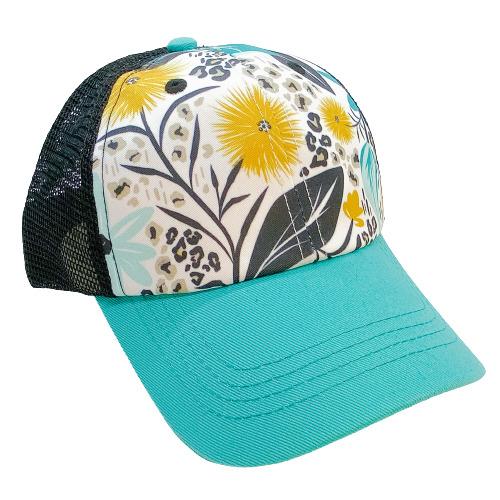 Floral Jaguar Print Trucker Hat | Trada Marketplace