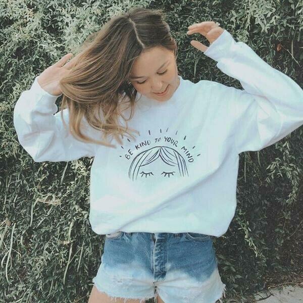 Be Kind To Your Mind Sweatshirt   Trada Marketplace