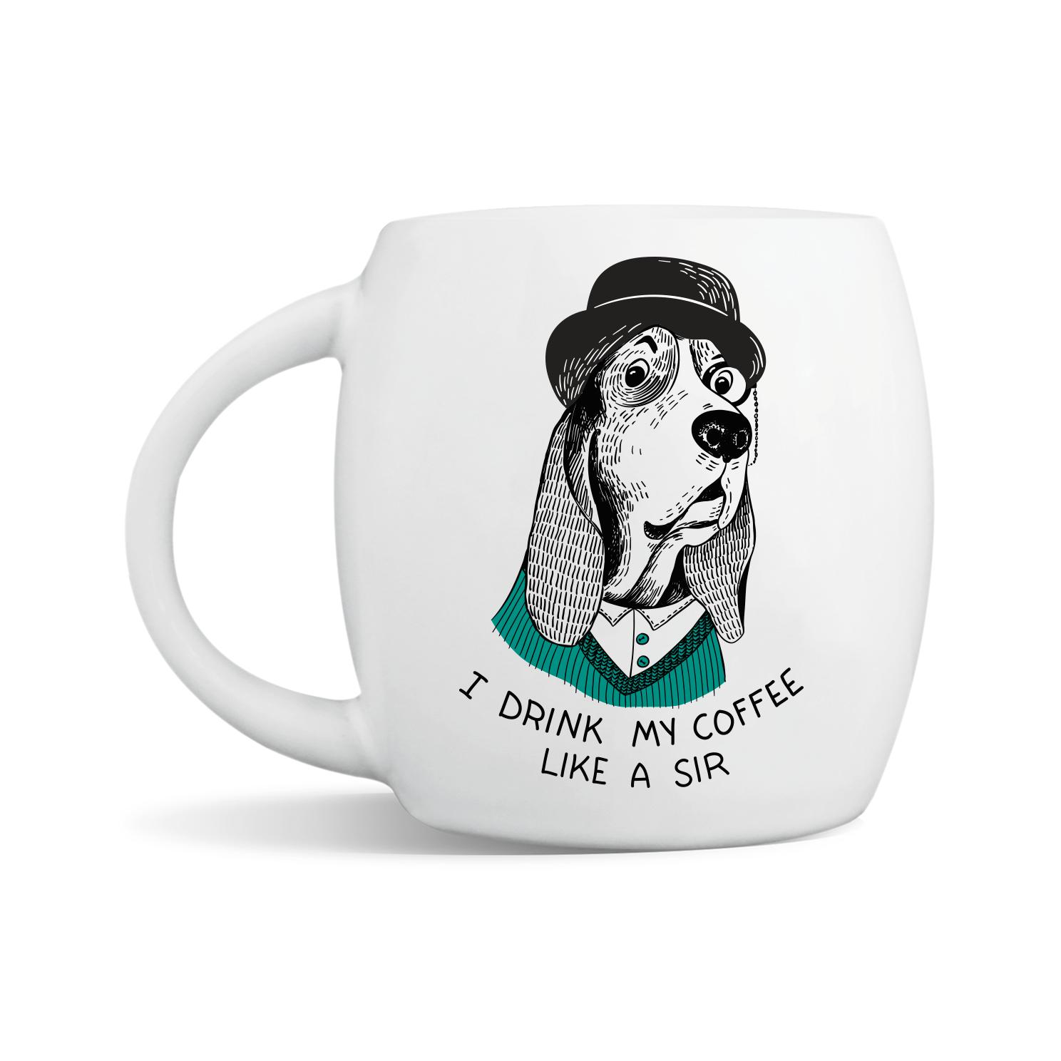 PompousBasset Hound Mug | Trada Marketplace